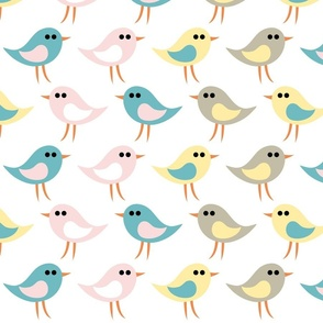 Birds pattern_white
