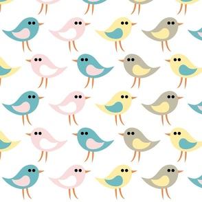 Birds pattern_white