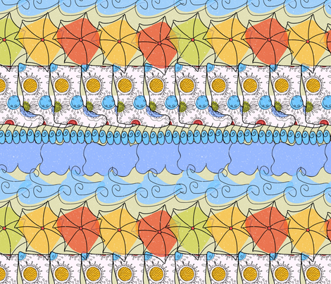 Rain boots fabric by cbronsky on Spoonflower - custom fabric