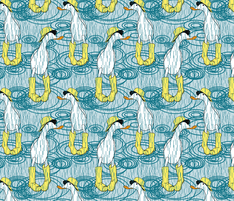 if it wasn't for your wellies..... fabric by weejock on Spoonflower - custom fabric