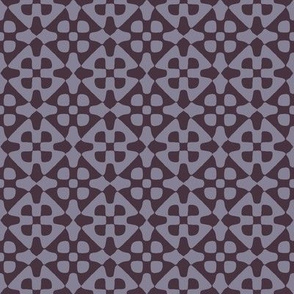 diamond checker in Midsummer mauve