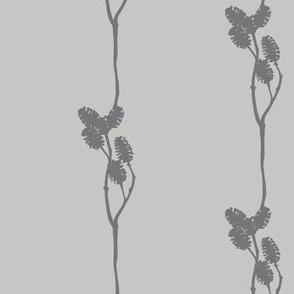 mini pine cone silhouette in grey