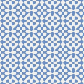 diamond checker in fifties blue and pale grey