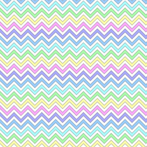 Pastel chevron on white