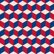 cubic in vintage flag colors