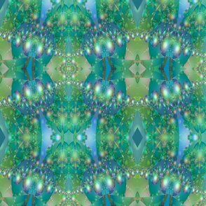 Blue Green Bubble Fractal © Gingezel™