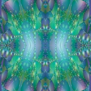 Blue Green Bubble Fractal