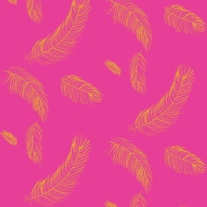 feathers-raspberry lemon