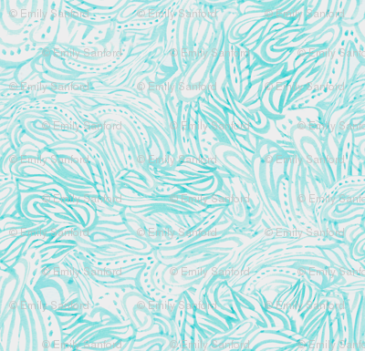 Wavy Paisley in Mint