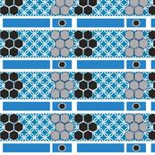 Black and Blue Geometric Circular Giftwrap