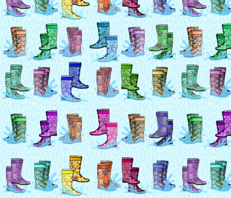 Wild 420 Wellies© fabric by camomoto on Spoonflower - custom fabric