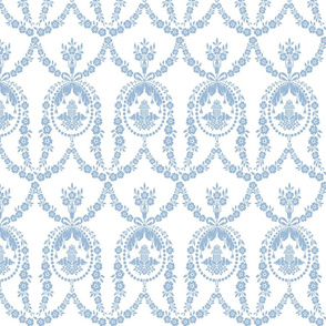 NeoClassical Birds in blueberry blue