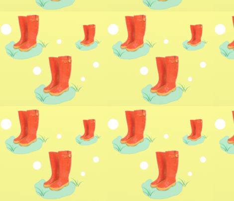 Rainboots fabric by haliejoe on Spoonflower - custom fabric