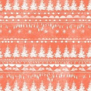 Vintage Christmas Stripe (coral)