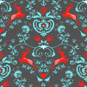 Springtime Damask (in Slate)