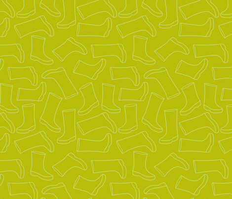 solid green wellies fabric by cjldesigns on Spoonflower - custom fabric