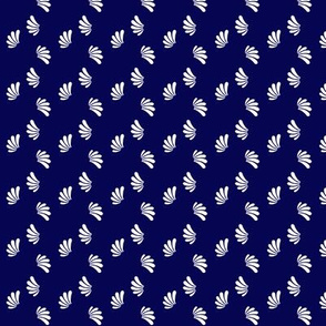 Flecks, White on Indigo