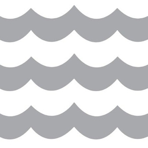 Custom Light Gray Chevron Wave