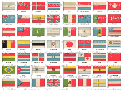Vintage World Flags