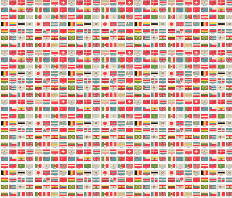 Vintage World Flags fabric by aftermyart on Spoonflower - custom fabric
