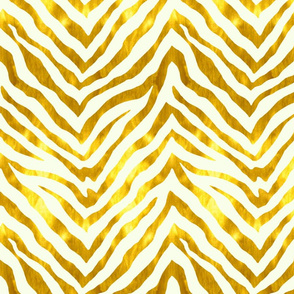 Gold and White Zebra