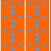Geometric Orange Light Blue Diamond Wallpaper