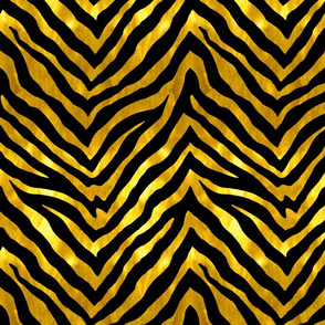 Black and Gold Zebra