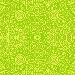 bridal mendhi - bright green and yellow