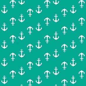 Teal Emerald Anchors