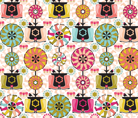 SpringBooty fabric by paula's_designs on Spoonflower - custom fabric