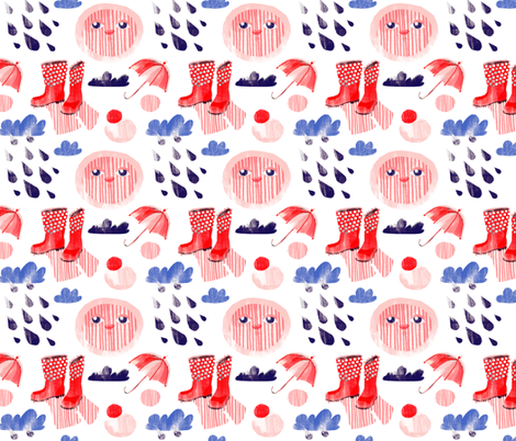 April fabric by wideeyedtree on Spoonflower - custom fabric