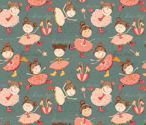 Boots and Ballet - Antique fabric by mulberry_tree on Spoonflower - custom fabric