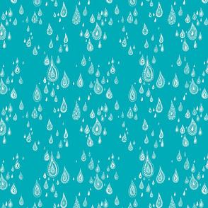 light rain - blue