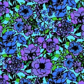 Blue Flower Garden