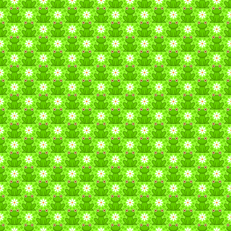 field of frogs fabric by sef on Spoonflower - custom fabric