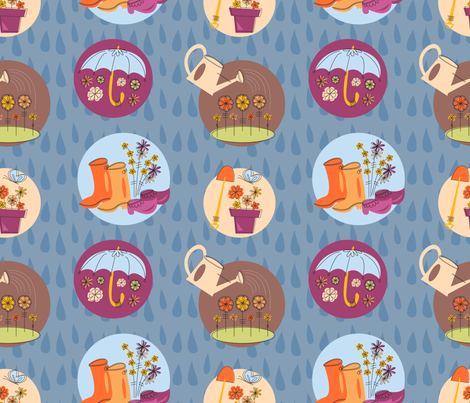 APRIL SHOWERS fabric by ccapone on Spoonflower - custom fabric