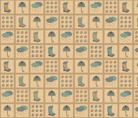 Rainy Day design fabric by alenkas on Spoonflower - custom fabric
