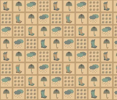 Rainy Day design fabric by alenkas on Spoonflower - custom fabric