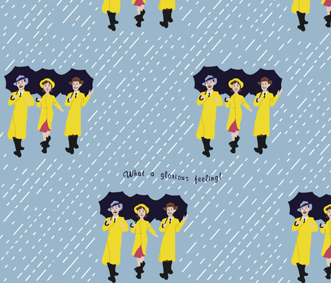 Happy Again fabric by aquoisepenguin on Spoonflower - custom fabric