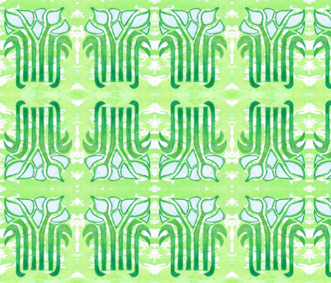 Art Nouveau Lillies fabric by timaroo on Spoonflower - custom fabric