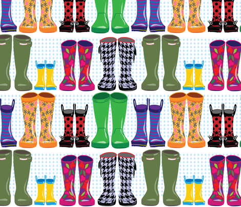 Rain? Check! fabric by sammyk on Spoonflower - custom fabric