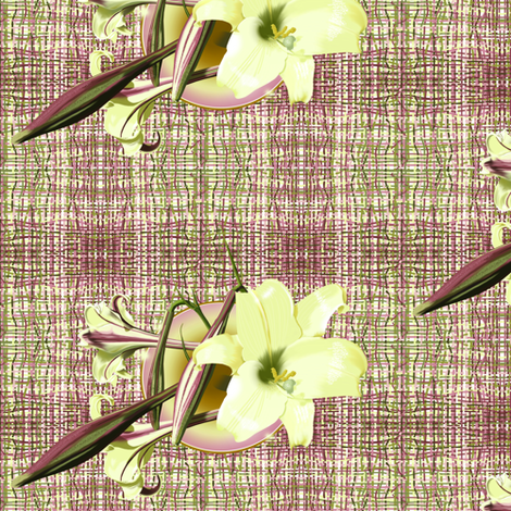 Lily_in a Vase. fabric by art_on_fabric on Spoonflower - custom fabric