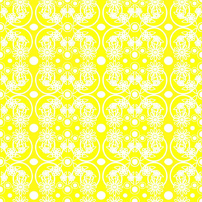 Yellow flower circles