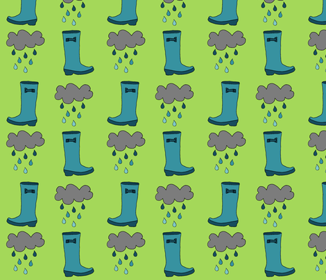 rainboots fabric by junebabyboutique on Spoonflower - custom fabric