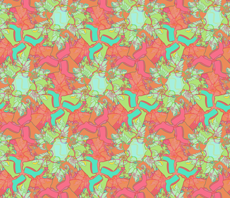 Psyche-wellie - cayenne fabric by elramsay on Spoonflower - custom fabric
