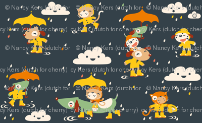 It's raining cats and dogs... in wellies...