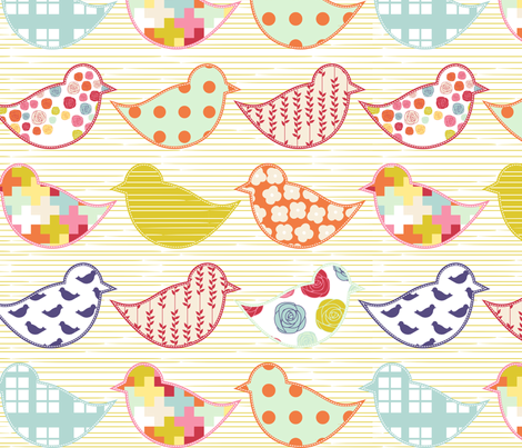 Birds of All Colors fabric by mrshervi on Spoonflower - custom fabric