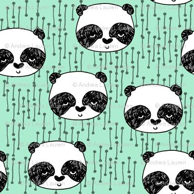 Panda - Pistachio by Andrea Lauren