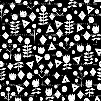 flowers // floral flowers wallpaper black and white
