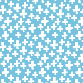 Swiss Crosses - Soft Blue/White by Andrea Lauren